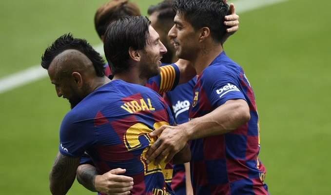 برشلونة يحسم تاهله الى دوري الابطال
