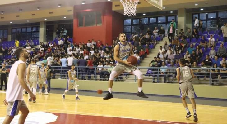 اطلس يدون اسمه في سجل الانتصارات ببطولة لبنان بعد اسقاطه وصيف العرب