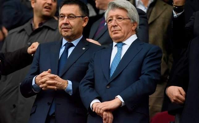 رئيس أتلتيكو مدريد: سيثبت التاريخ أن بارتوميو على حق في كل ما فعله لبرشلونة