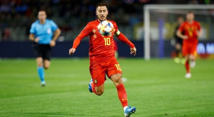 هازارد أساسيًا في مباراة بلجيكا أمام كازاخستان
