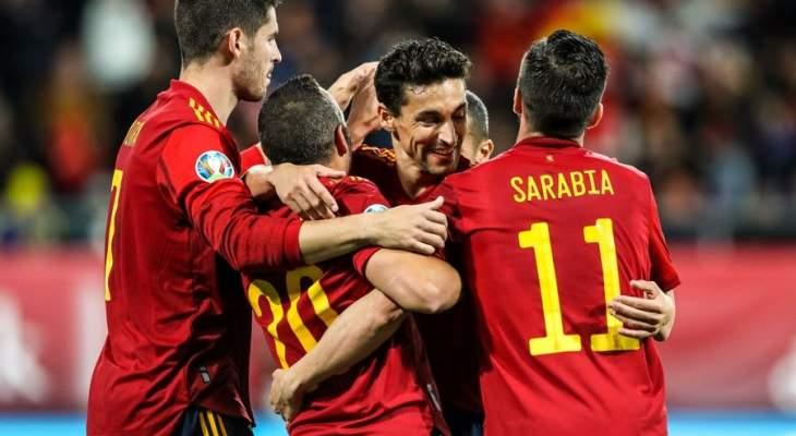 إسبانيا تحسم تأهلها بسباعية أمام مالطا وايطاليا تواصل تعملقها وسداسية للدنمارك