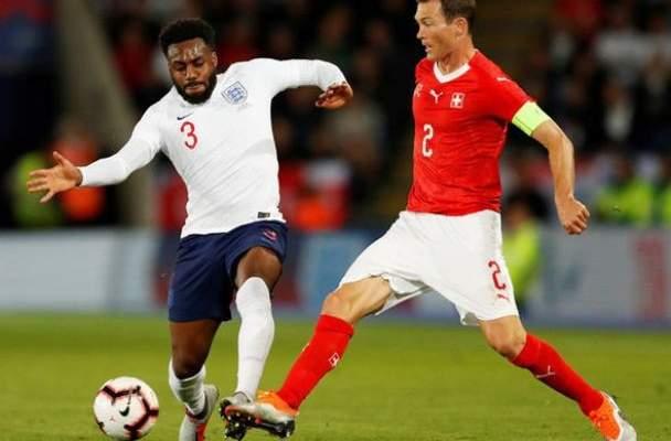 علامات لاعبو المنتخب الانكليزي في مباراتهم الودية امام سويسرا