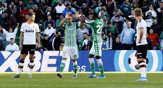 الليغا: ريال بيتيس يخطف فوزاً قاتلاً امام فالنسيا العقيم