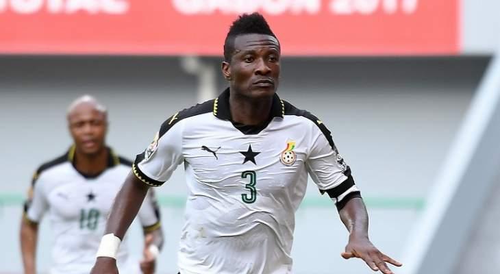 جيان على رأس قائمة منتخب غانا النهائية استعدادا لامم أفريقيا