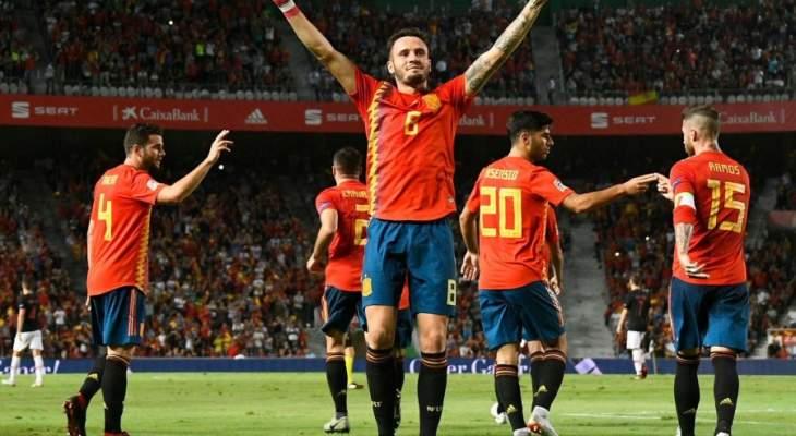 اسبانيا تقسو على وصيفي بطل العالم