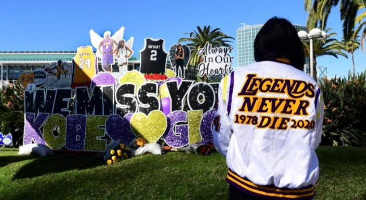 جمهور لوس أنجلوس يتذكر براينت بعد عام على رحيله