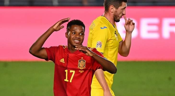 فاتي: انا فخور بمباراتي الأولى مع إسبانيا كأساسيًا