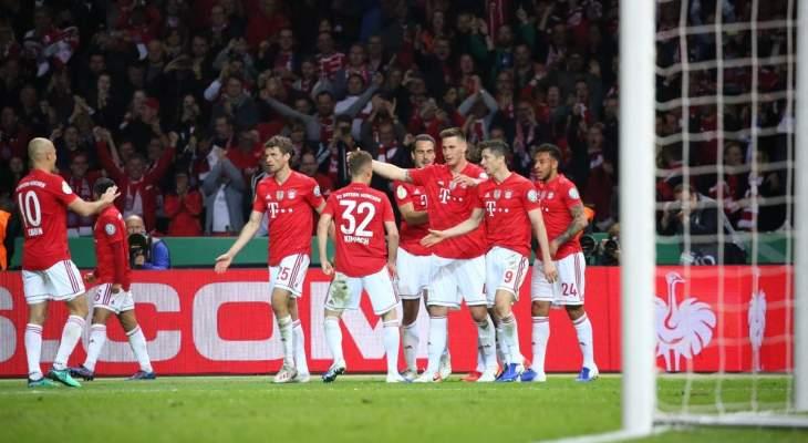 """البايرن يودع نجميه """"الروبيري"""" بإحراز كأس المانيا بثلاثية في مرمى لايبزغ"""