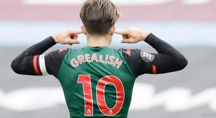 غريليش يغيظ مشجعي استون فيلا عبر الإنترنت