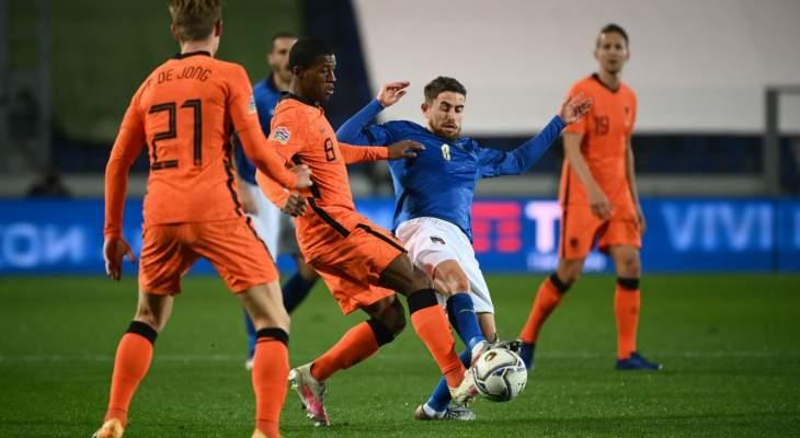 موجز الصباح: هزيمة انكلترا امام الدنمارك، تعادل ايطاليا وهولندا، ميسي يثير قلق برشلونة وماكغروغر يعود عن اعتزاله