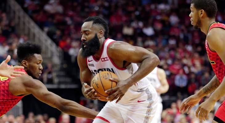 NBA: هاردن يسحق هوكس بـ60 نقطة ويمنح روكتس الفوز