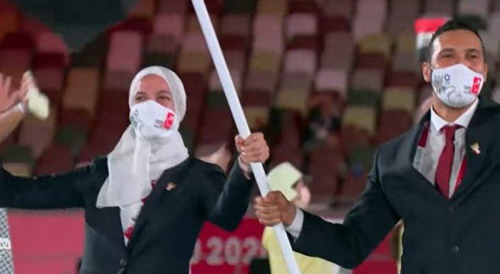 دخول بعثة مصر في حفل افتتاح أولمبياد طوكيو 2020