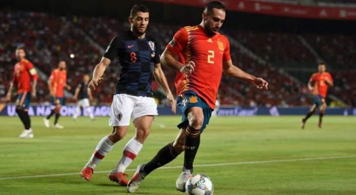 قرارت تحكيمية  لم تؤثرعلى مباراة كراوتيا واسبانيا