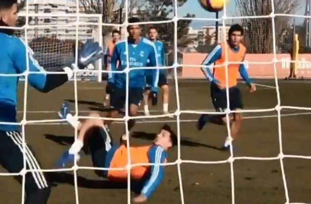 هدف جميل لإبراهيم دياز في تمارين ريال مدريد