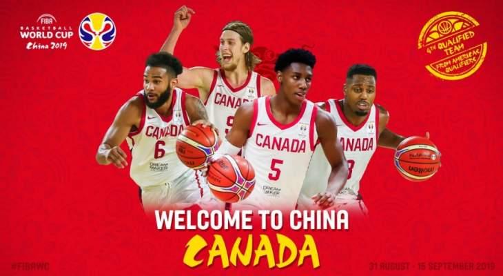 كندا تنضم الى المنتخبات التي ضمنت تاهلها الى مونديال السلة 2019