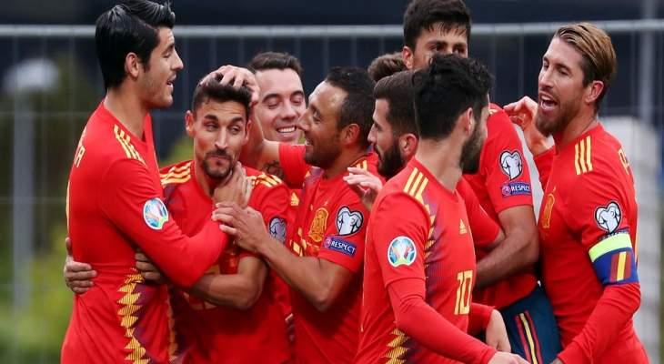 اسبانيا تعزز صدارتها برباعية امام جزر الفارو وفوز بولندا وخماسية لاوكرانيا