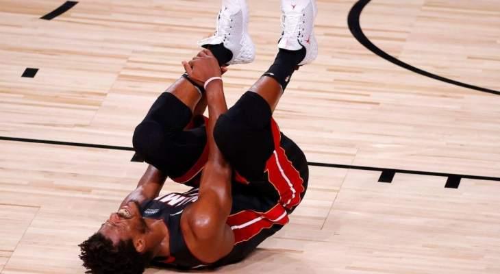 باتلر يتعرض للاصابة في المباراة الاولى من سلسلة NBA  النهائية