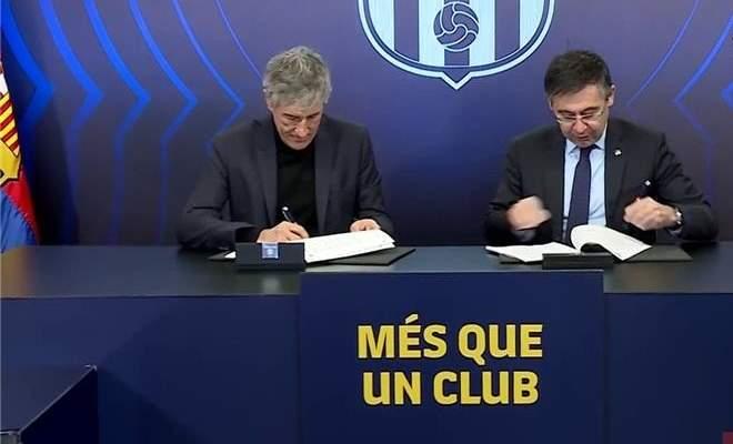 رسمياً: برشلونة يقدم سيتيين امام وسائل الاعلام