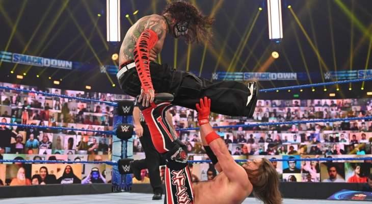 WWE: مباراة جيف هاردي وآي جي ستايلز تنتهي من دون فائز، وباقي النتائج