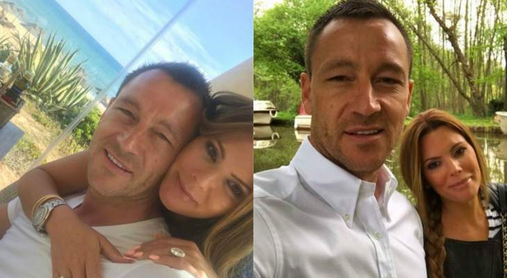 تيري يحتفل ببقاء فيلا في الدوري برفقة زوجته