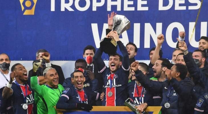 ارقام حققها باريس سان جيرمان بعد الفوز بكأس السوبر الفرنسي