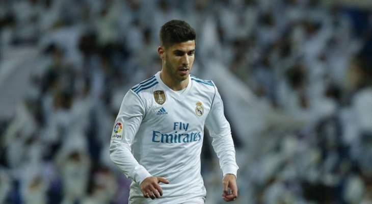 أسنسيو الاكثر مشاركة مع ريال مدريد في 2018