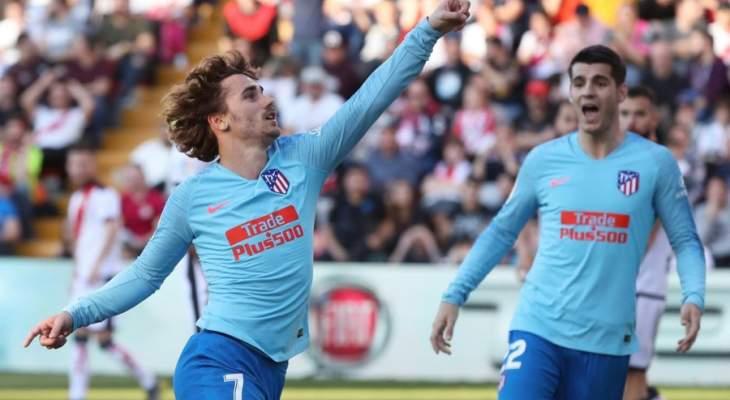 غريزمان يواصل انتشال اتلتيكو مدريد بفوز صعب امام فاليكانو