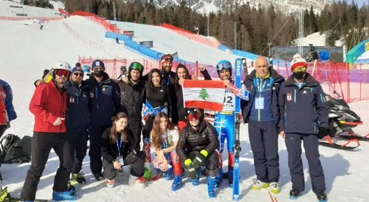 انجاز كبير لبعثة التزلج  في بطولة العالم في إيطاليا