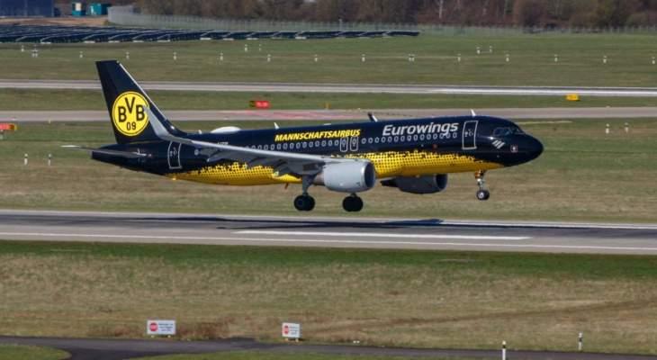 طائرة بوروسيا دورتموند تنجو من كارثة بسبب خطأ تقني