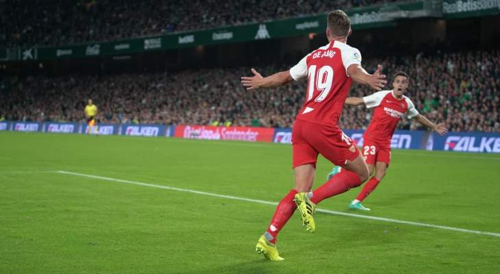 الدوري الإسباني: اشبيلية يتخطى ريال بيتيس بثنائية
