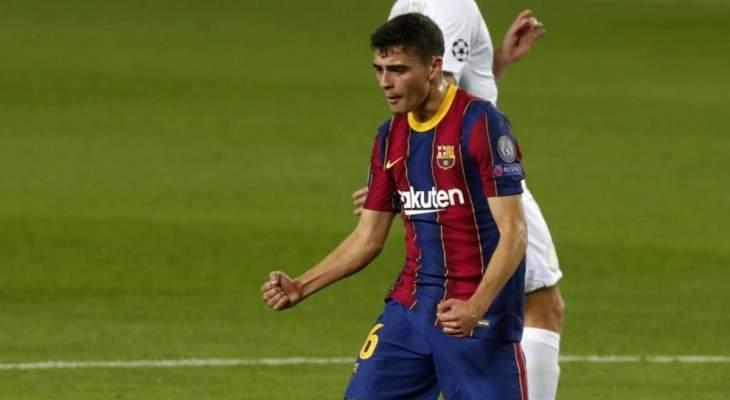 لاعب برشلونة يعود الى منزله بسيارة اجرة بعد مباراة فرينكفاروزي