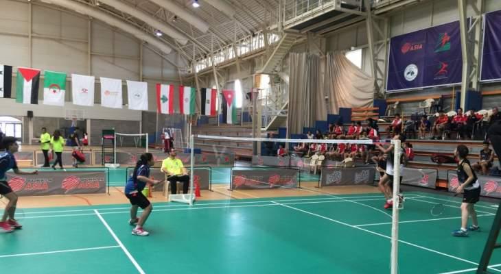 نتائج اليوم الثاني في بطولة غرب آسيا بالريشة الطائرة