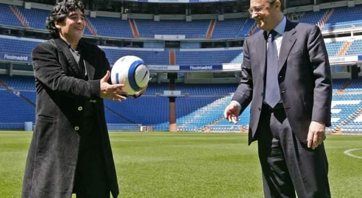 مارادونا : نصحت بيريز بالتعاقد مع مبابي لكنه رفض لوجود رونالدو
