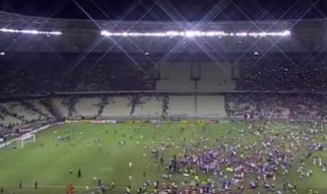 من ملعب كرة قدم الى ساحة للقتال في البرازيل
