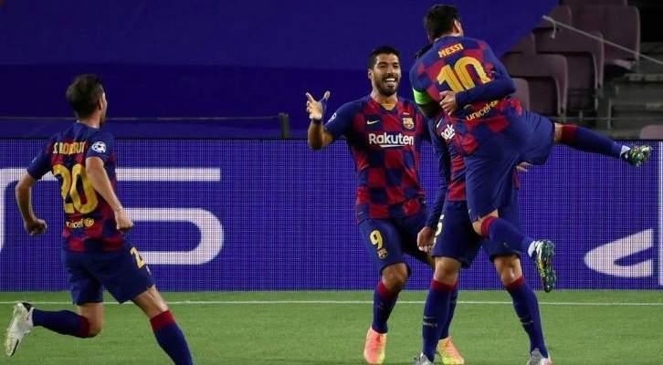 اهم مجريات مباراة برشلونة - نابولي