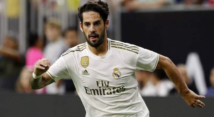 إصابات ريال مدريد ترتفع الى 9 بعد إنضمام ايسكو الى اللائحة