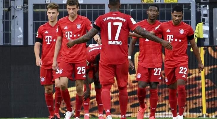 الأهداف الخمسة لمباراة بايرن ميونيخ وفورتونا دوسلدورف