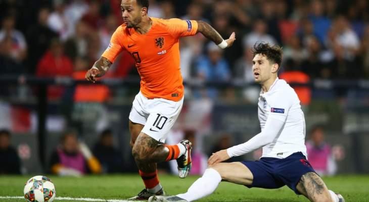 احصاءات من مباراة منتخب هولندا وانكلترا 
