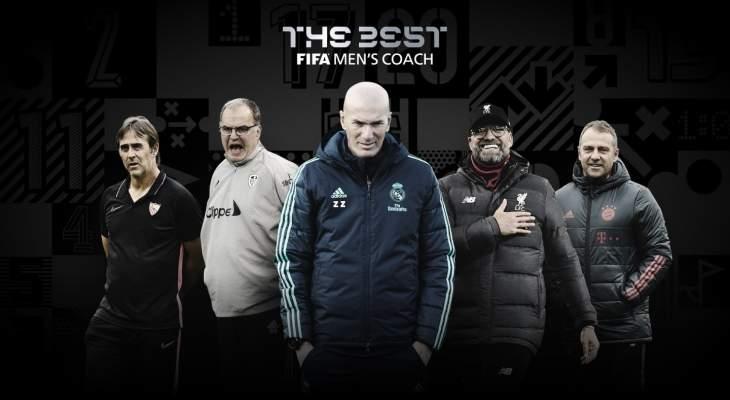 منافسة بين 5 مدربين على جائزة الأفضل