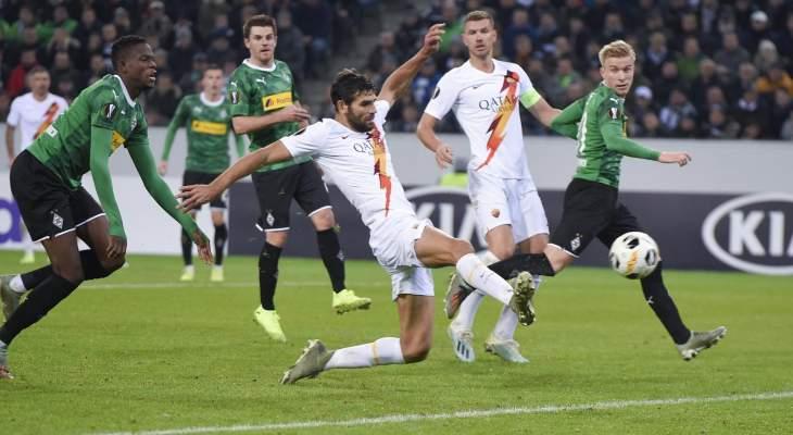 الدوري الأوروبي: روما يفقد الصدارة بهزيمة امام مونشنغلادباخ وفوز سبورتينغ براغا على بشكتاش