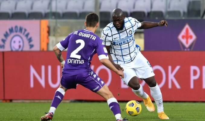 لوكاكو يهدي الانتر التأهل في كأس ايطاليا بعد هدف قاتل في شباك الفيولا