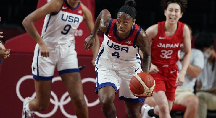 سيدات اميركا لكرة السلة يلحقن الهزيمة الاولى بسيدات اليابان في طوكيو 2020