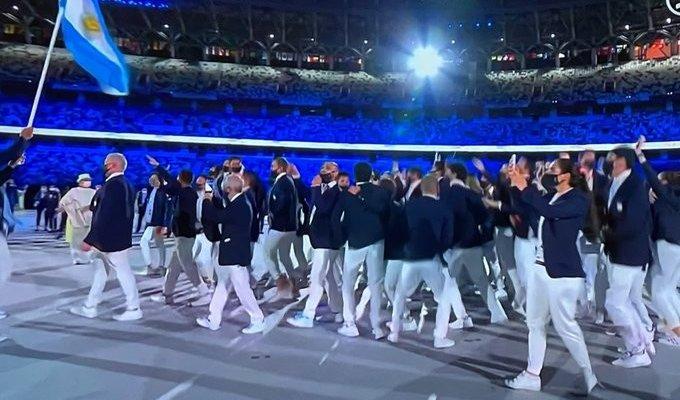 دخول مميز لبعثة الارجنتين في حفل افتتاح أولمبياد طوكيو 2020