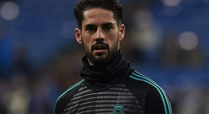 ايسكو يثير القلق في تدريبات ريال مدريد