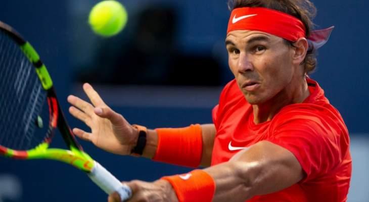 نادال يتابع مسيرته الناجحة في بطولة تورونتو وزفيريف يتخطى مدفيديف