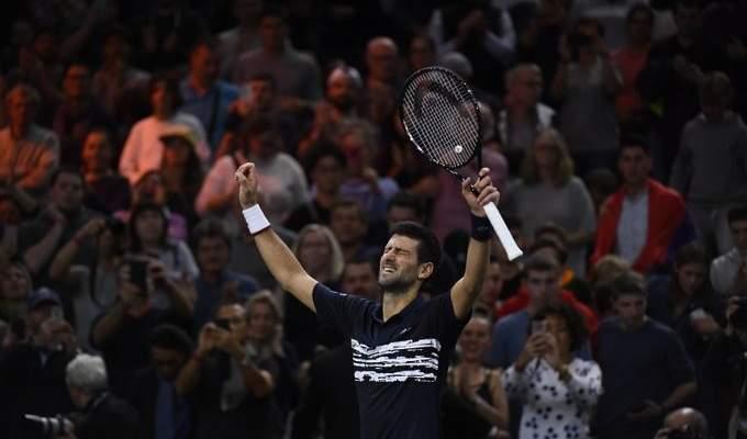 ديوكوفيتش يحرز لقب بطولة باريس لتنس الاساتذة