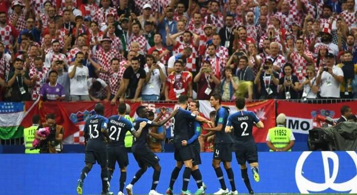 فرنسا بطلة العالم للمرة الثانية بعد فوزها على كرواتيا وديشان يدخل التاريخ