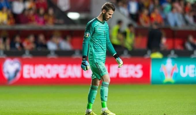 دي خيا يترك لقاء اسبانيا والسويد مصابا