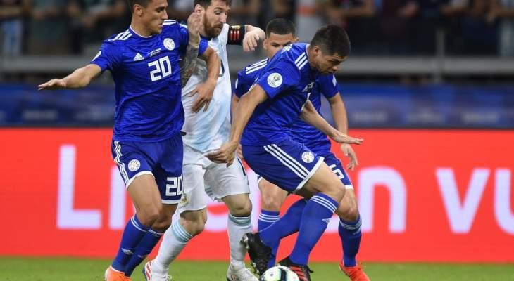 ارقام واحصاءات من مباراة الباراغواي والارجنتين