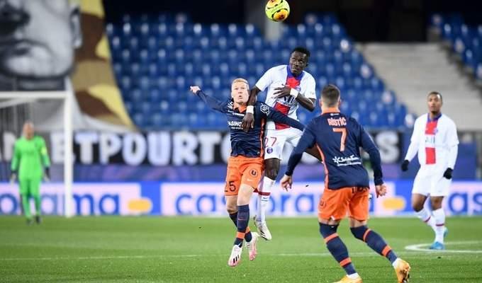 الدوري الفرنسي: سان جيرمان يوقف سلسلة إنتصارات مونبلييه ويعزز صدارته